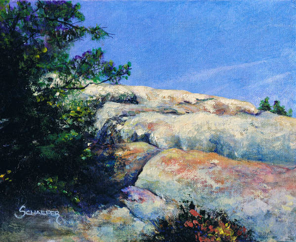 Lizards Mouth Poster featuring the painting Perfect Day At Lizards Mouth by M Schaefer