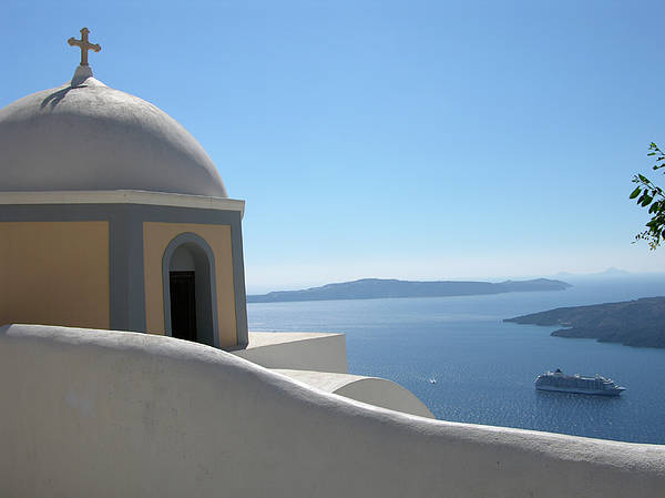 Greece Poster featuring the photograph Perfect Day In Santorini by Jessica Estrada