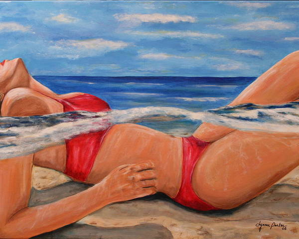 Beach Poster featuring the painting Perfect Spa by Dyanne Parker