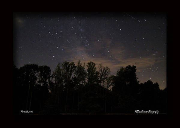 Perseid Meteor Shower Poster featuring the photograph Perseid Meteor In Milky Way by PJQandFriends Photography