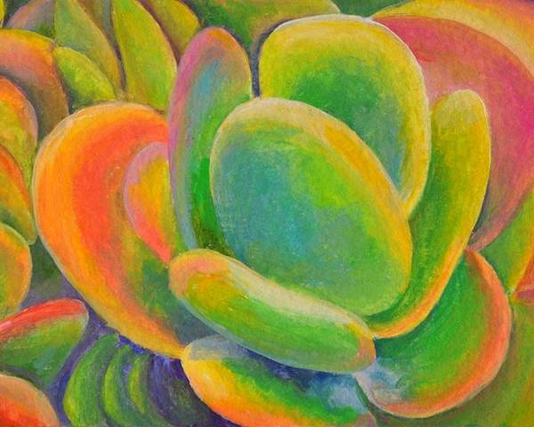 Acrylic Painting Poster featuring the tapestry - textile petales Multicolores by Muriel Dolemieux