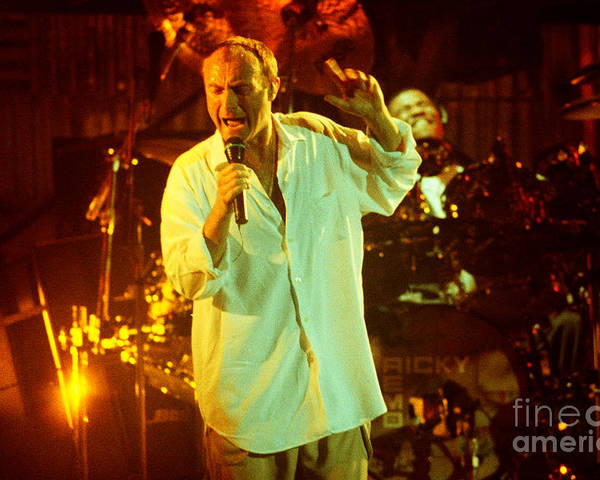 Phil Collins Poster featuring the photograph Phil Collins-0903 by Gary Gingrich Galleries