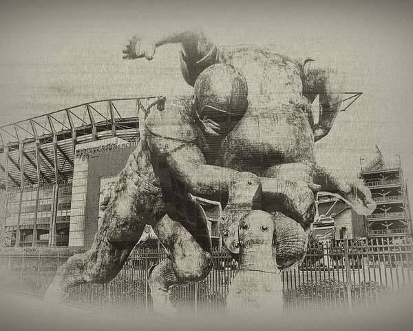 Lincoln Financial Field Football Poster featuring the photograph Philadelphia Eagles At The Linc by Bill Cannon