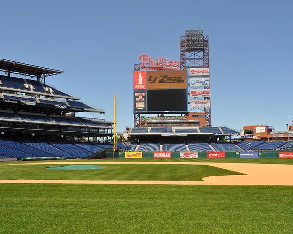 Philadelphia Phillies Poster featuring the photograph Philadelphia Phillies Stadium by Brynn Ditsche