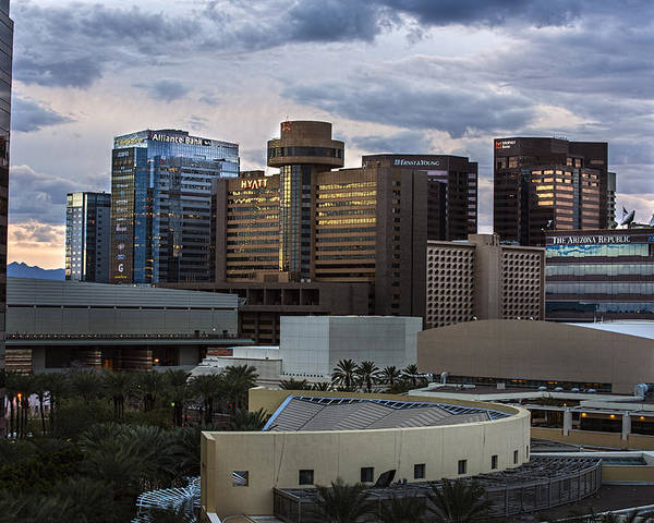 Phoenix Poster featuring the photograph Phoenix Downtown Skyline by Dave Dilli