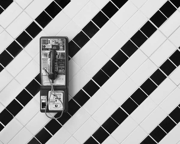 Phone Poster featuring the photograph Phone And Lines by Dan Holm