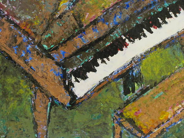 Piano Poster featuring the painting Piano Close Up 1 by Anita Burgermeister