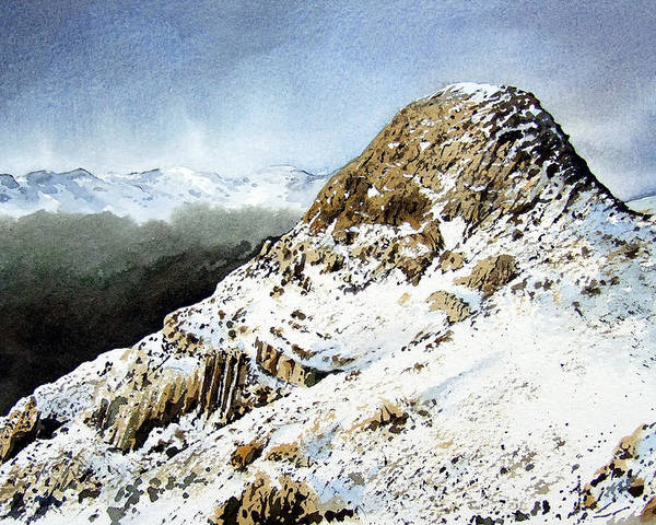 Pike O' Stickle Poster featuring the painting Pike O' Stickle by Paul Dene Marlor
