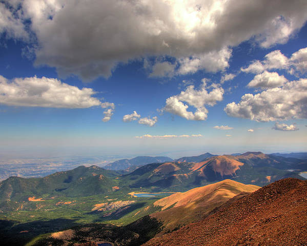 Pikes Peak Poster featuring the photograph Pikes Peak Summit by Shawn Everhart
