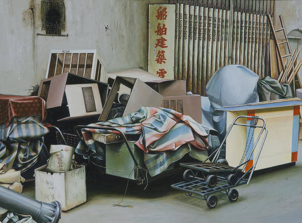 Photo Realistic Poster featuring the painting Pile And Pile 1 by Lee Jackson