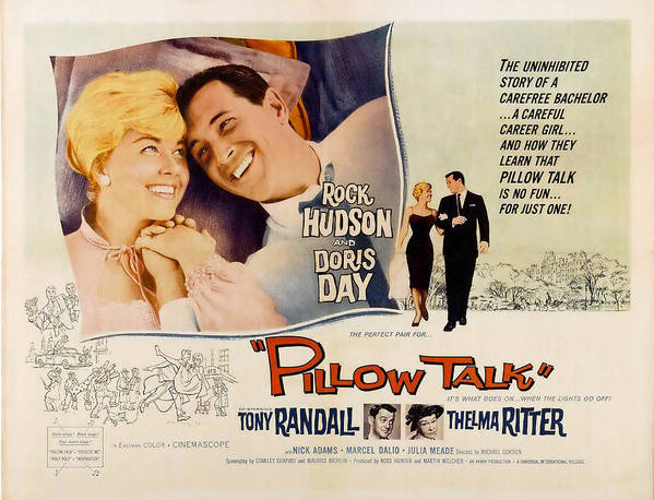 1950s Movies Poster featuring the photograph Pillow Talk, Doris Day, Rock Hudson by Everett