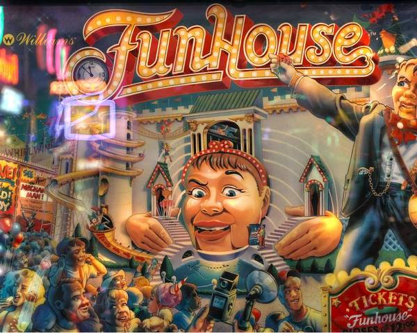 Pinball Williams Fun House Vintage Poster