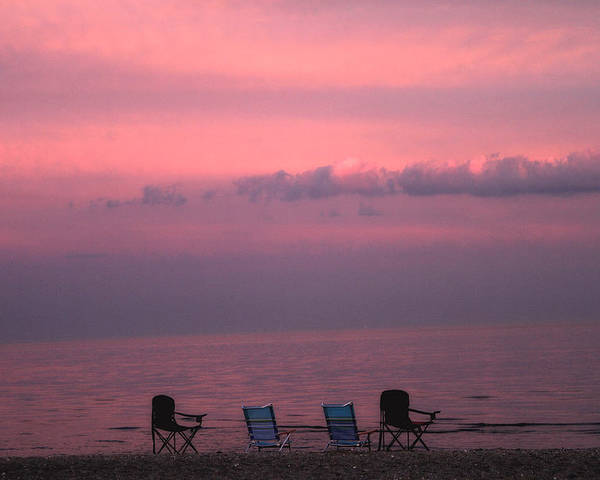 Coastal Poster featuring the photograph Pink And Deserted by Karol Livote