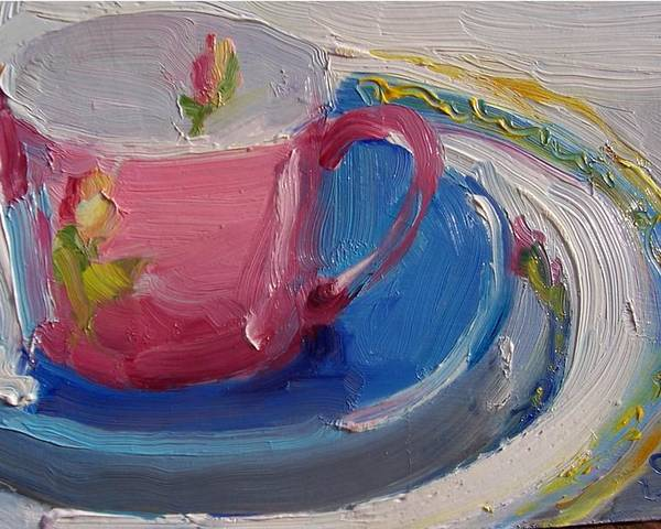 Still Life Poster featuring the painting Pink Cup by Susan Jenkins