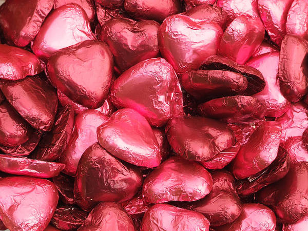 Wedding Poster featuring the photograph Pink Heart Chocolates I by Helen Northcott