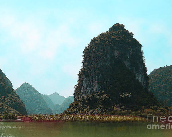 Landscape Poster featuring the photograph Pinnacle by Dot Xie