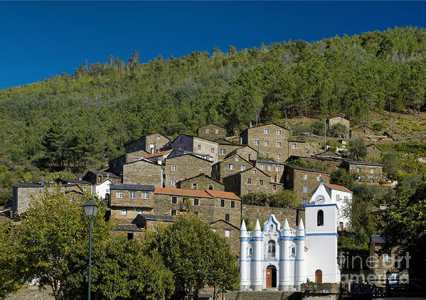 Portugal Poster featuring the photograph Piodao Village Church by Mikehoward Photography