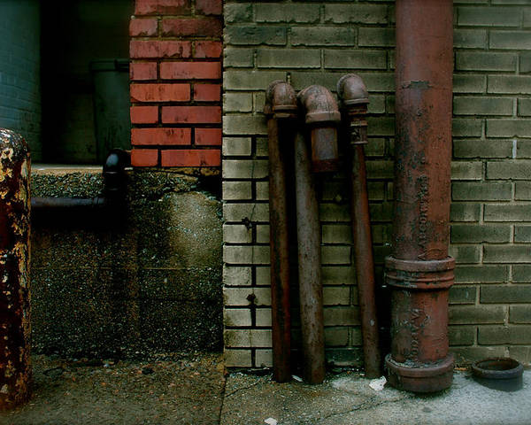 Augusta Poster featuring the photograph Pipe Bricks by Patrick Biestman