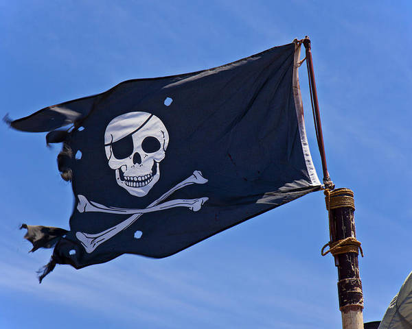 Pirate Flag Skull Cross Bones Poster featuring the photograph Pirate Flag Skull And Cross Bones by Garry Gay