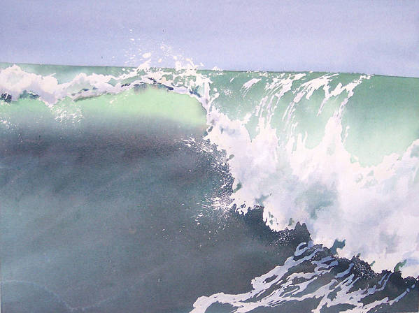 Wave Poster featuring the painting Pismo Wave number Eight by Philip Fleischer