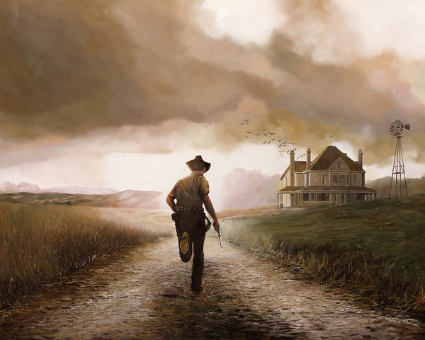 Cow Boy Poster featuring the painting Un Pistola by Guido Borelli