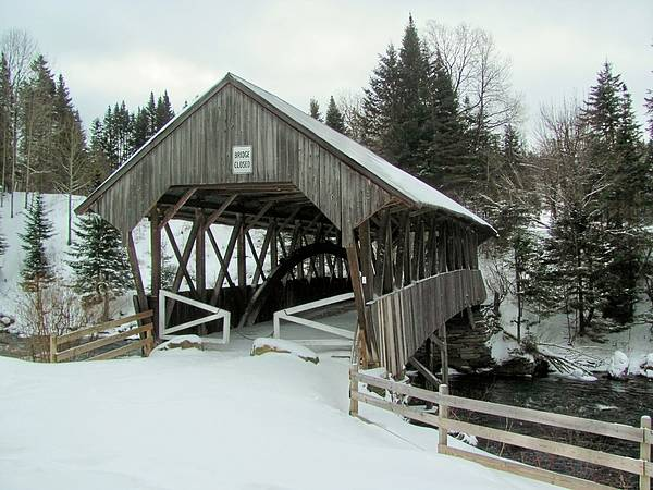 Nh Poster featuring the photograph Pittsburg-clarksville Covered Bridge by Wayne Toutaint