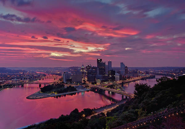Pittsburgh Poster featuring the photograph Pittsburgh Dawn by Jennifer Grover