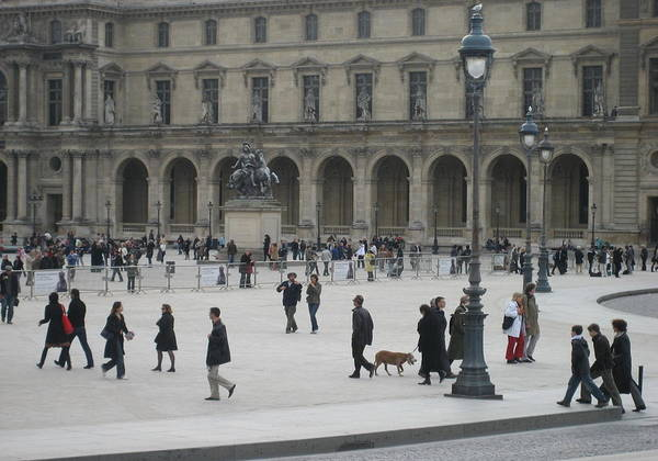 Louvre Poster featuring the photograph Place Du Carrousel At The Louvre by Victoria Heryet