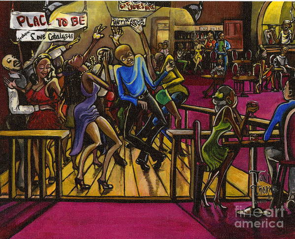 Painting Poster featuring the painting Place To Be by Toni Thorne