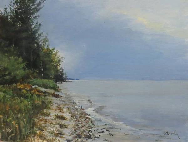 Lake Huron Poster featuring the painting Places We've Been by William Brody