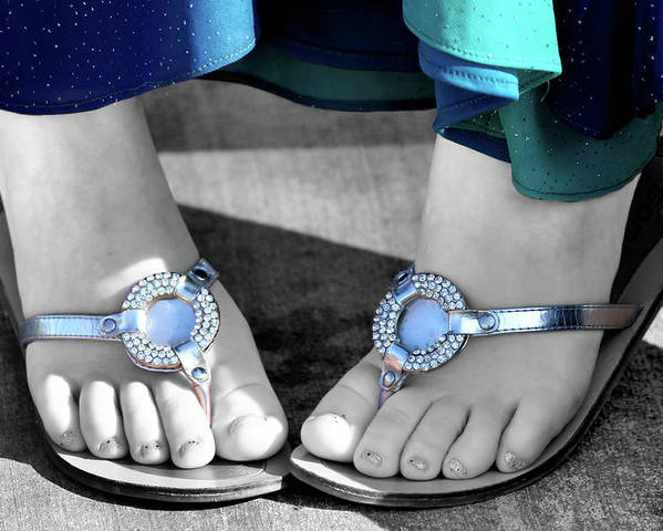 Foot Poster featuring the photograph Play Footsie by Karen Scovill