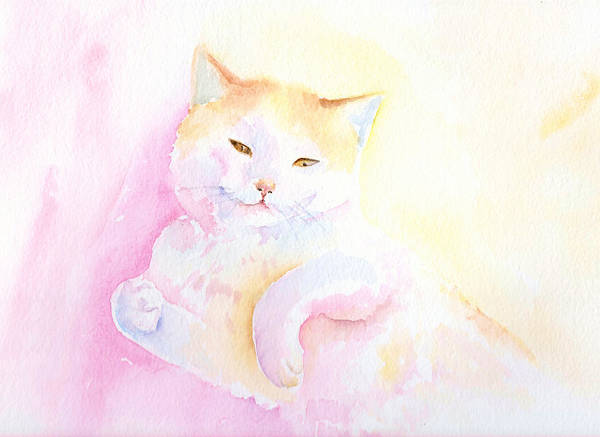 Cat Poster featuring the painting Playful Cat I by Elizabeth Lock
