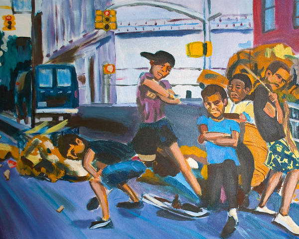 New York City Paintings Poster featuring the painting Playground by Wayne Pearce