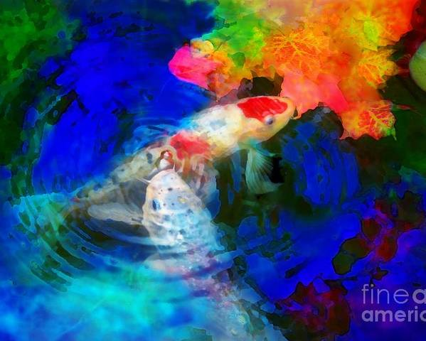 Autumn Ponds Poster featuring the photograph Playing With Autumn by Gina Signore