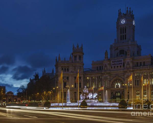 Spain Poster featuring the photograph Plaza De Cibeles Madrid Spain by Pablo Avanzini