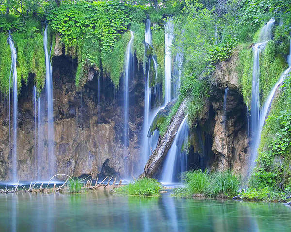 Plitvice Poster featuring the photograph Plitvice by Elisa Locci