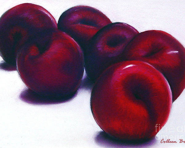 Still Life Poster featuring the painting Plum Crazy by Colleen Brown