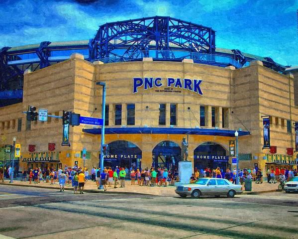 Poster featuring the photograph Pnc Park by Matt Matthews