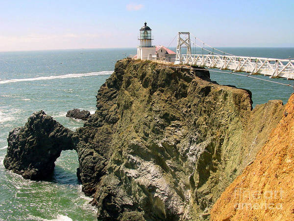Lighthouse Poster featuring the photograph Point Bonita Lighthouse In Marin County California by Jim Sweida