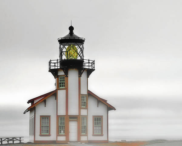 Point Cabrillo Lighthouse Poster featuring the photograph Point Cabrillo Light Station - Mendocino Ca by Christine Till