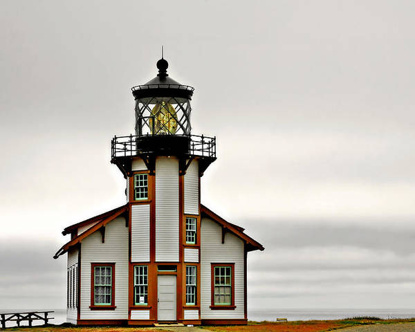 Point Cabrillo Lighthouse Poster featuring the photograph Point Cabrillo Lighthouse California by Christine Till