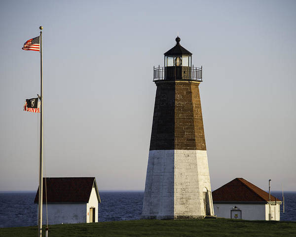 Lighthouse Poster featuring the photograph Point Judith by Susan Viera