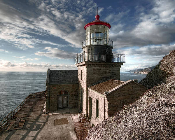 Lighthouse Poster featuring the photograph Point Sur Lighthouse - California by Daniel Hagerman