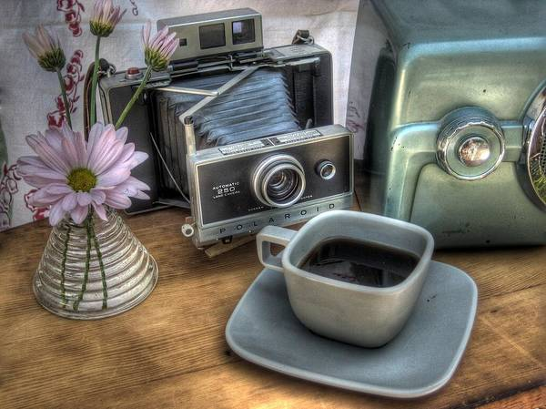Coffee Poster featuring the photograph Polaroid Perceptions by Jane Linders