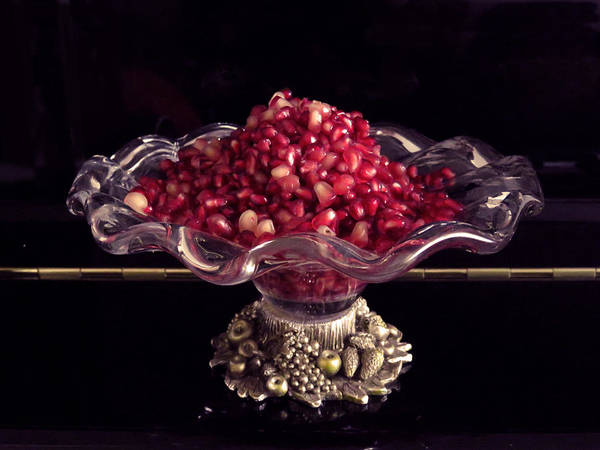 Pomegranate Seeds Poster featuring the photograph Pomegranate by Ana Dawani