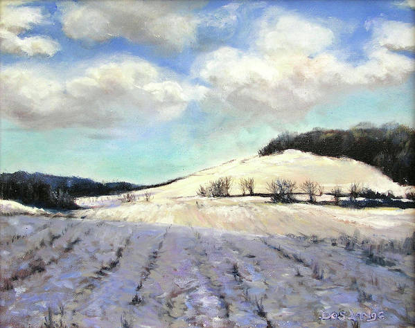 Winter Landscape Poster featuring the painting Pomfret Hills by Donna Lange