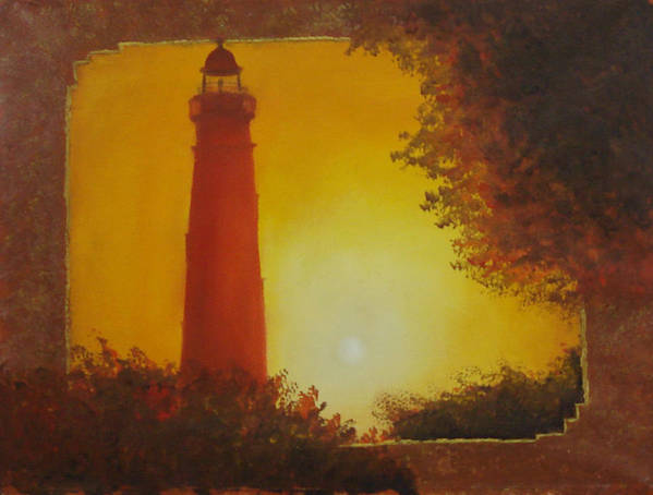 Lighthouse Poster featuring the painting Ponce Inlet Lighthouse by Darlene Green