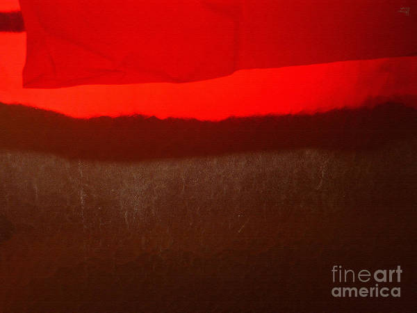 Red Poster featuring the photograph Poncho Abstract8 by Jeff Breiman
