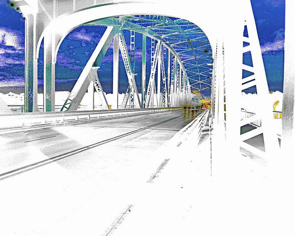 Bridge Poster featuring the photograph Ponte Acid. by Adriano Bussi