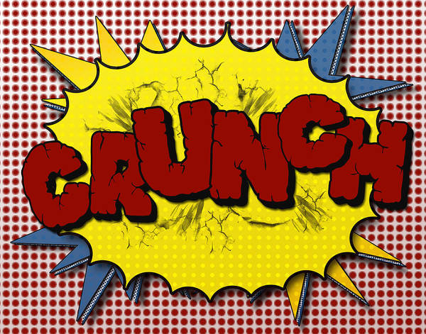 Crunch Poster featuring the digital art Pop Crunch by Suzanne Barber